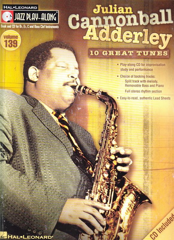 Sheet Music & Song Books Julian Cannonball Adderley Jazz Play-along Sheet Music Book With Cd